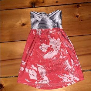 Roxy Xs strapless dress like new